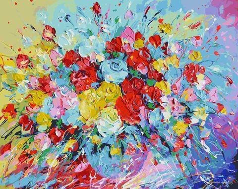 """Картина по номерам """"Фейерверк из роз"""" (400х500 мм) — фото, картинка"""
