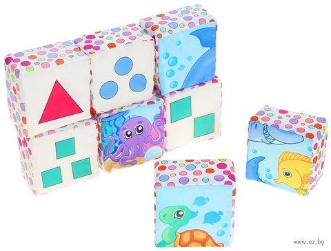 """Кубики """"Подводный мир"""" (6 шт) — фото, картинка"""