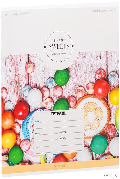 """Тетрадь в линейку """"Funny Sweets"""" (18 листов; в ассортименте) — фото, картинка"""