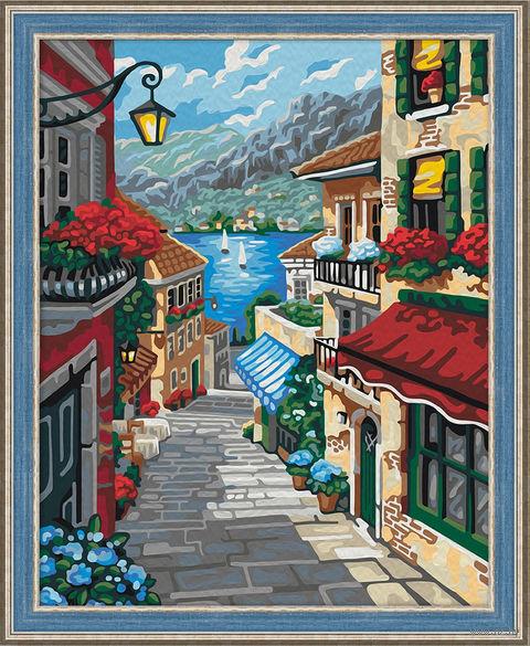 "Картина по номерам ""Приморский городок"" (400х500 мм) — фото, картинка"