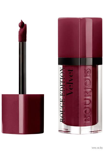 """Помада-флюид для губ """"Rouge Edition Velvet"""" тон: 37, брусничный — фото, картинка"""