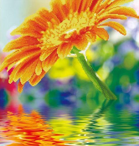 "Алмазная вышивка-мозаика ""Солнечный цветок"" (490х490 мм) — фото, картинка"