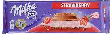 "Шоколад молочный ""Milka. Клубничный йогурт"" (300 г) — фото, картинка"