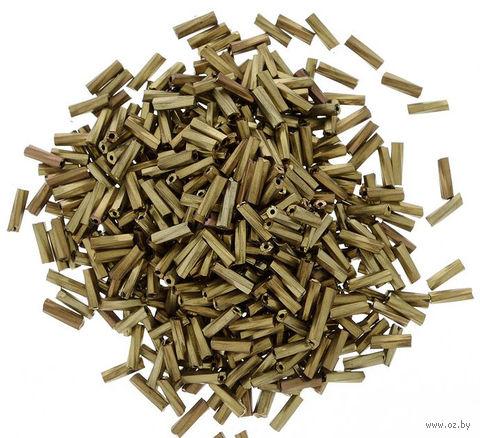 Стеклярус крученый №М-222Т (коричневый; 5 мм)