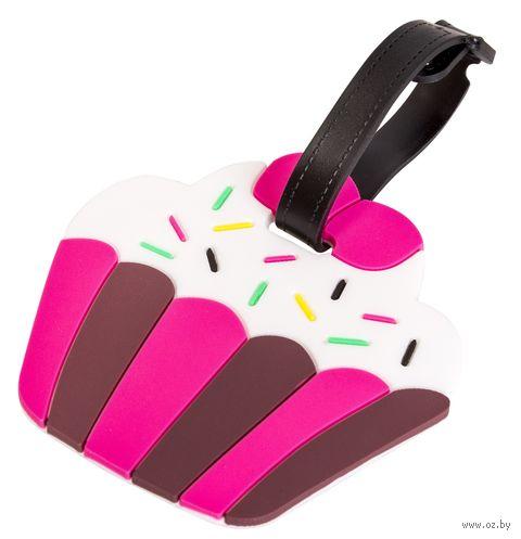 "Бирка на багаж ""Малиновый кекс"" — фото, картинка"