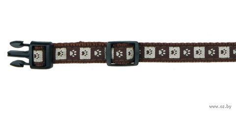 """Ошейник нейлоновый для собак """"Modern Art Collar Coffee"""" (размер XS-S, 22-35 см, коричневый, арт. 15946)"""