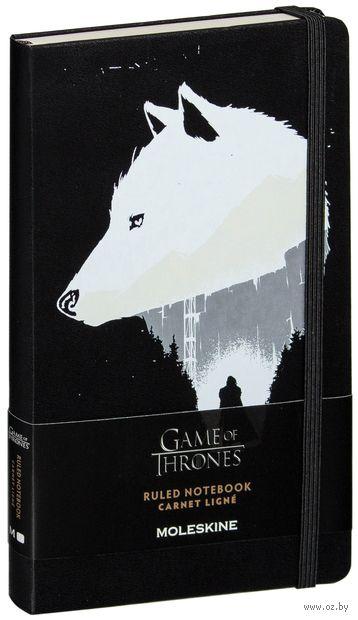 """Записная книжка Молескин """"Game of Thrones"""" в линейку (А5; черная)"""