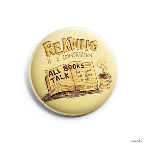"Значок маленький ""Reading"" (арт. 792) — фото, картинка"