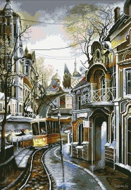"""Алмазная вышивка-мозаика """"Трамвайный путь"""" (420х600 мм) — фото, картинка"""