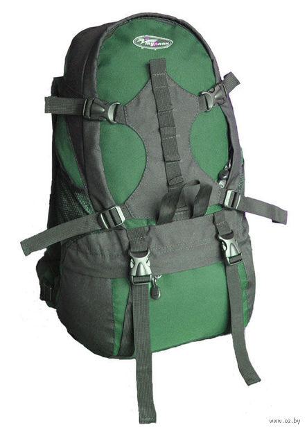 """Рюкзак """"Стэп-35"""" (чёрный/тёмно-зелёный)"""