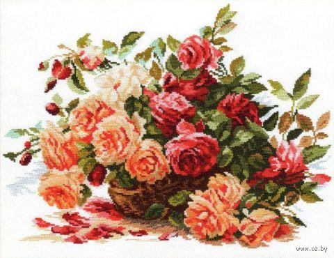 """Вышивка крестом """"Розы"""" (400х300 мм) — фото, картинка"""