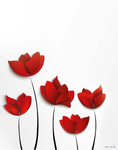 """Тетрадь в клетку 48 листов """"Цветы"""""""