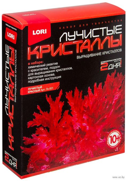 """Набор для выращивания кристаллов """"Лучистые кристаллы. Красный"""" — фото, картинка"""