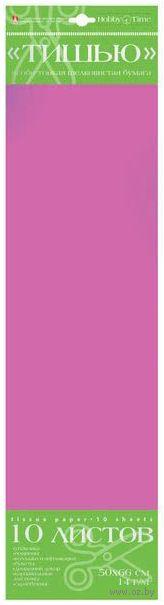 Бумага тишью цветная (10 листов; розовая) — фото, картинка