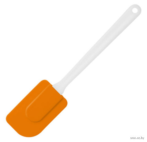 Лопатка кухонная силиконовая (245 мм; оранжевая) — фото, картинка