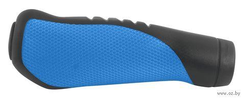 Грипсы для велосипеда (черно-синие) — фото, картинка