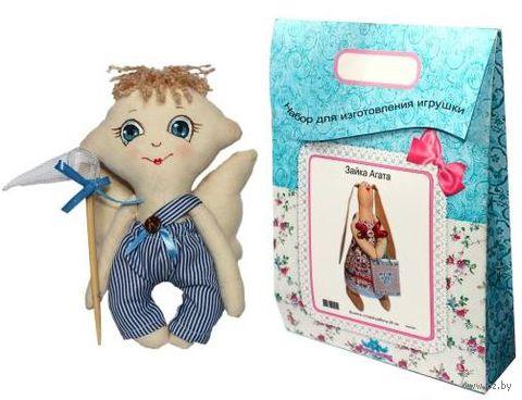 """Подарочный набор для шитья из ткани """"Кукла. Сережка"""""""
