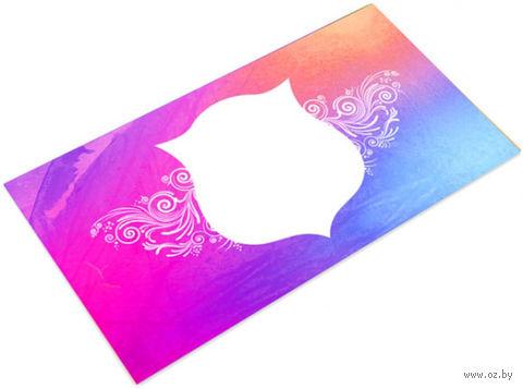 Конверт подарочный фиолетовый