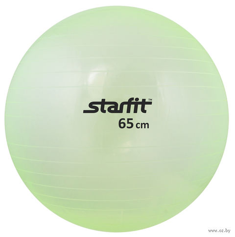 Мяч гимнастический GB-105 (65 см; прозрачно-зелёный) — фото, картинка