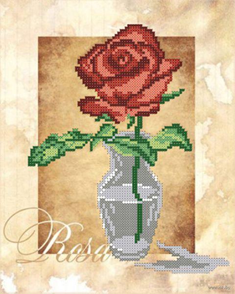 "Вышивка бисером ""Роза"" (250х190 мм; арт. НДА4-010) — фото, картинка"