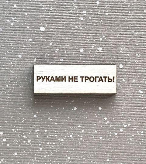 "Значок ""Руками не трогать!"" (арт. 249-21) — фото, картинка"