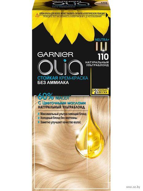 """Крем-краска для волос """"Garnier Olia"""" тон: 110, натуральный ультраблонд — фото, картинка"""