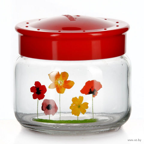 Банка для сыпучих продуктов стеклянная с пластмассовой крышкой (400 мл; арт. 171011)