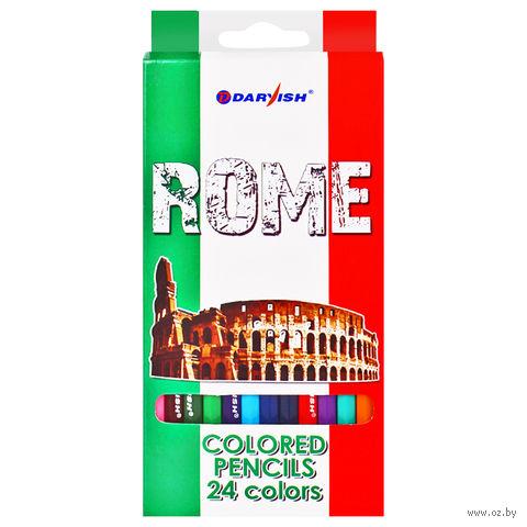 """Цветные карандаши """"Достопримечательности городов"""" (24 цвета; арт. DV-4800-24)"""