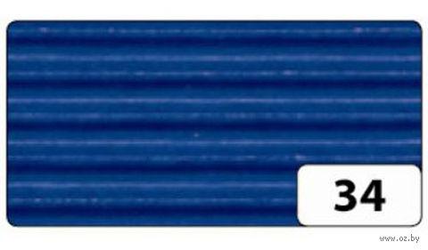 Картон гофрированный (синий; 0,5х0,7 м)