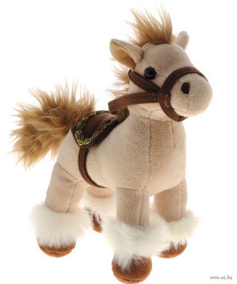 """Мягкая игрушка """"Лошадка бежевая"""" (23 см)"""