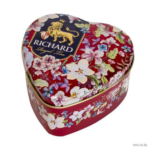 """Чай черный листовой """"Richard. Royal Heart"""" (30 г; в банке) — фото, картинка"""