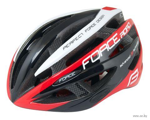"""Шлем велосипедный """"Road"""" (черно-красно-белый; арт. 902608) — фото, картинка"""