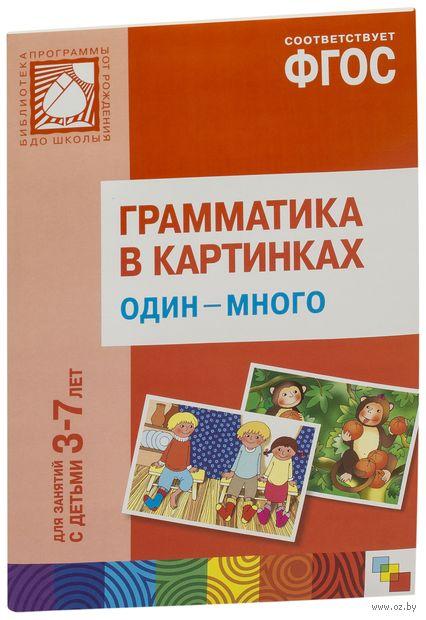 Грамматика в картинках для игр и занятий с детьми 3-7 лет. Один-много. Наглядно-дидактическое пособие