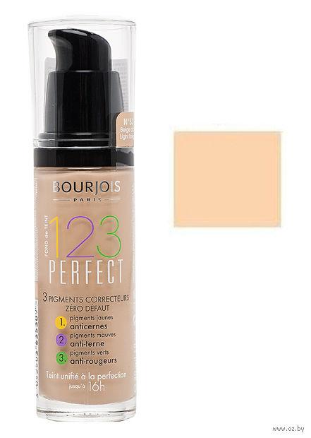 """Тональный крем для лица """"123 Perfect"""" (тон: 51, светлая ваниль)"""