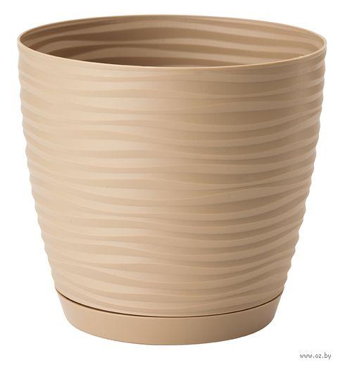 """Цветочный горшок """"Сaxapa. Пeтит"""" (17 см; кофе латте) — фото, картинка"""