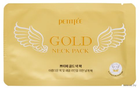 """Гидрогелевая маска для шеи """"С золотом"""" (10 г) — фото, картинка"""