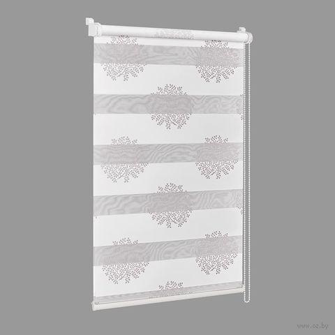 """Штора рулонная """"Сантайм. Декор"""" (81х160 см; крем-серебро) — фото, картинка"""