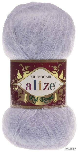 "Пряжа ""ALIZE. Kid Royal №224"" (50 г; 500 м; светло-серый) — фото, картинка"