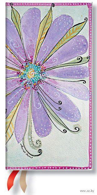 """Записная книжка Paperblanks """"Цветение """"в линейку (формат: 95*180 мм, слим)"""
