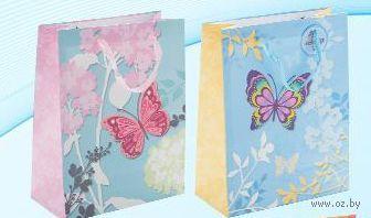 """Пакет бумажный подарочный """"Бабочка"""" (в ассортименте; 26х32х11 см; арт. МС-3007)"""