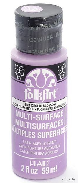 "Краска акриловая ""FolkArt Multi-Surface"" (орхидея, 59 мл; арт. PLD-02931)"
