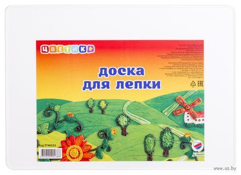 """Доска для лепки с бортиком """"Цветик"""" (А-4)"""