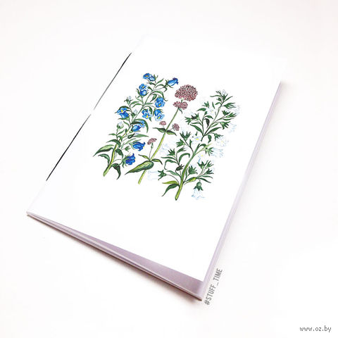 """Блокнот белый """"Полевые цветы"""" А5 (772)"""
