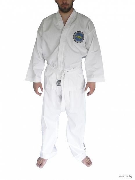 Кимоно для таэквондо ИТФ AX8 (р.52-54/180; белое; с шелкографией) — фото, картинка