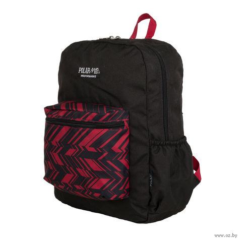 Рюкзак П2199 (15 л; чёрно-красный) — фото, картинка