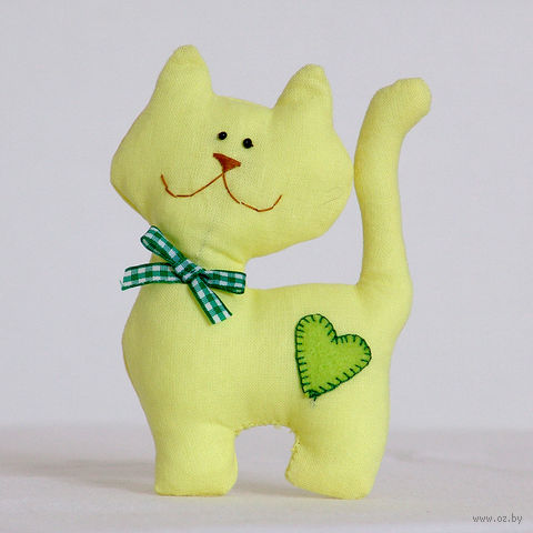 """Кукла """"Кот"""" (желтый с бантиком) — фото, картинка"""
