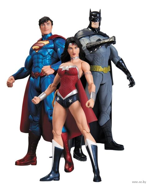 Набор фигурок Dc Comics. Batman, Wonder Woman, Superman. 3 в 1 (17 см)