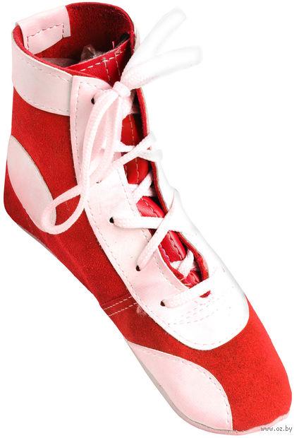 Обувь для самбо П (р. 32; замша; красная) — фото, картинка