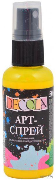 """Краска-спрей """"Decola"""" (желтая светлая; 50 мл) — фото, картинка"""