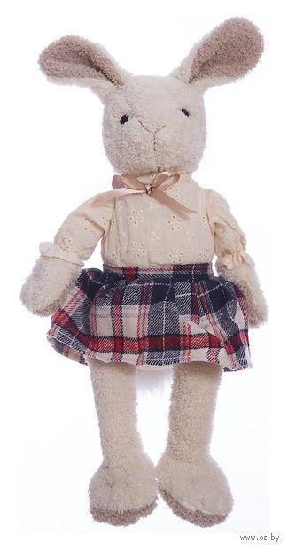 """Мягкая игрушка """"Зайка Мэри в клетчатой юбке"""" (23 см) — фото, картинка"""